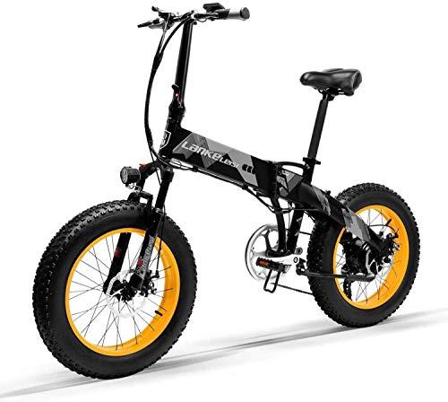 Bicicleta Eléctrica Plegable Potente 1000W/500W 35km/h Ruedas Anchas 20 x 4'' Bateria Removible...*