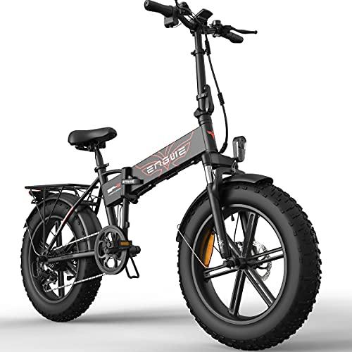 Bicicleta Eléctrica Plegable De 26 Pulgadas / 20 Pulgadas, Bicicleta Eléctrica Plegable con Batería De Litio De 36 V / 48 V 15 Ah, Motor De Rueda Trasera De 250 Vatios (Negro)