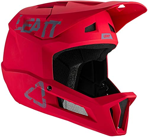 Leatt Casque MTB 1.0 Dh Casco de Bicicleta, Unisex Adulto, Rojo Chilli, Extra-Large