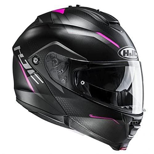 HJC Helmets 2379_26918 Casco de Moto-HJC IS MAX II DOVA MC8SF-L, Hombre, Negro/Rosa, L
