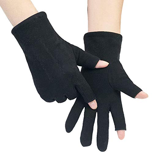 YNHSZ Guantes Guantes Masculinos Invierno Dos Dedos Medio Expuestos Dos Dedos más Medio Dedo Engrosado conducción Pantalla táctil Bicicleta frío cálido Jinete