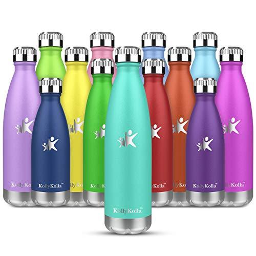KollyKolla Botella de Agua Acero Inoxidable, Termo Sin BPA Ecológica, Botellas Termica Reutilizable...*
