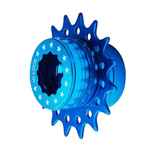 Cervus Kit de conversión de Casete Fixie de una Sola Velocidad Compatible con Shimano 16T Colores (Azul)