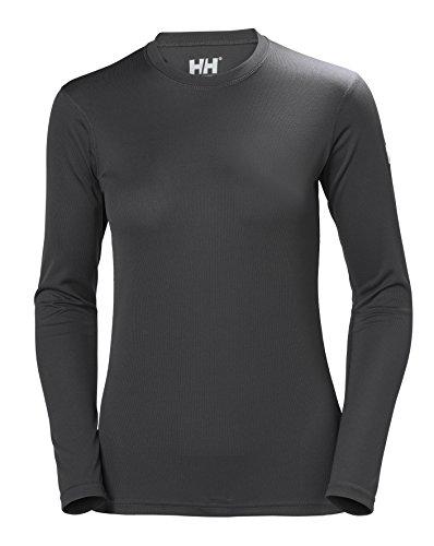 Helly Hansen HH Tech Crew Camiseta Deportiva Manga Larga, Mujer, Ebony, L*