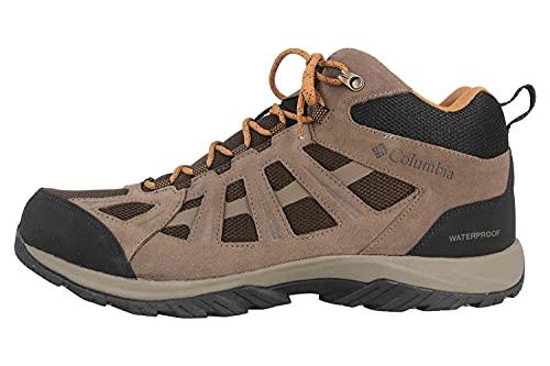 Columbia Redmond III Mid Waterproof, Zapatillas para Caminar Hombre, Alce cordobés, 43 EU