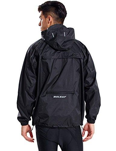 BALEAF - Chubasquero impermeable para hombre, con capucha, ligero, plegable, para correr, ciclismo, senderismo, cortavientos