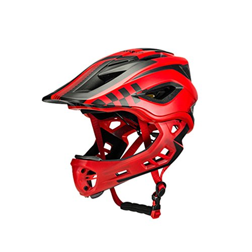 ROCKBROS Casco Integral Desmontable de Niños para Bicicleta MTB BMX Ajustable con 12 Agujeros...*