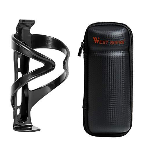 Lixada Portabidón para Bicicleta con Bolsa de Botella de Agua Portabotellas para MTB Herramientas para Bicicletas