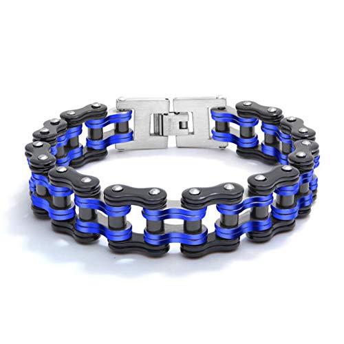 DishyKooker - Pulsera de cadena de bicicleta de acero de titanio para hombre, cadena de moto, pulsera única, regalo creativo