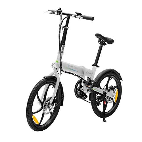 SMARTGYRO Ebike Crosscity White - Bicicleta Eléctrica Urbana, Ruedas de 20