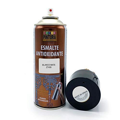 Pintura Spray Blanco Mate 400ml ANTIOXIDANTE para metal / anti oxido para metales, hierro, aluminio,...*