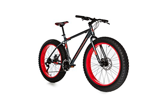 Moma Bikes Bicicleta Montaña FAT 26'Alu, SHIMANO 21V, Doble Freno Disco. (Varias Tallas)