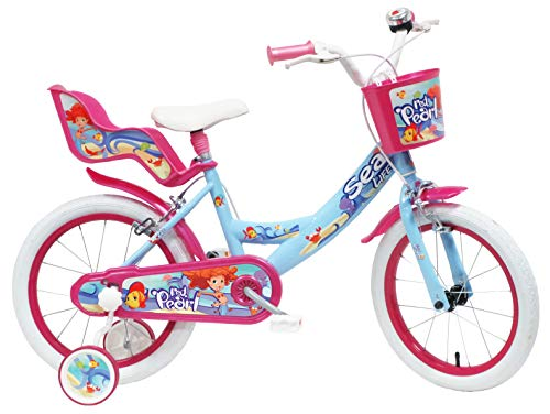 DENVER 16' Sea Life Ref. Bicicleta Infantil 2495, Azul/Fucsia/Blanco