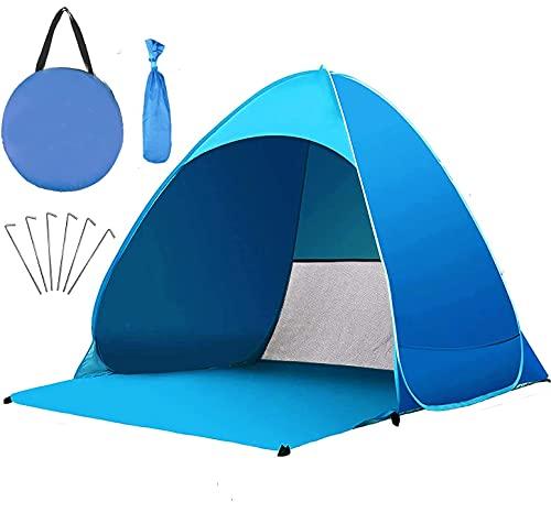 Miconi Pop Up Tienda de Playa para 1-3 Personas Anti-UV Protección Solar UPF 50+ Tienda de Playa Portátil para Playa,Jardín, Camping, Viajes, Pesca, Picnic y Deportes al Aire Libre (165*150*110) cm