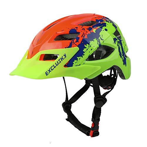 Exclusky Casco Bicicleta Niños Casco Infantil para BMX, Patinaje, Ciclismo, Monopatín, Scooter -...*