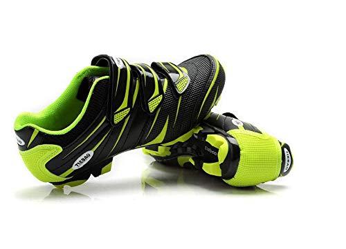 Zapatos de Ciclismo MTB Profesional Antideslizante Transpirable para Hombres y Mujeres, Shimano SPD - 43 EU