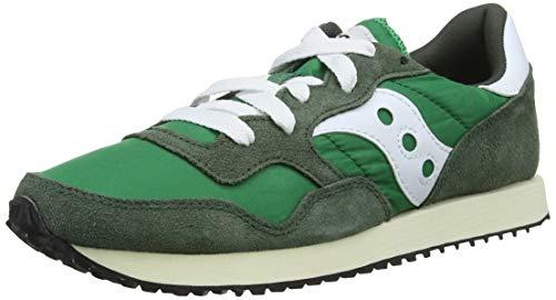 Saucony DXN Trainer Vintage, Zapatillas Hombre, Verde (Grn/Wht 3), 40 EU
