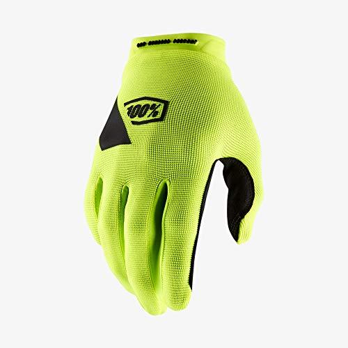 100 Percent RIDECAMP Glove Fluo Yellow-MD Guantes para ocasión Especial, Amarillo, Mediano para...*