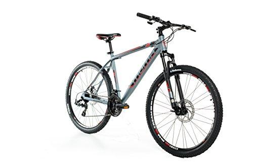 Moma bikes, Bicicletta Mountainbike 27,5' MTB SHIMANO, alluminio, doppio disco e doppia sospensione