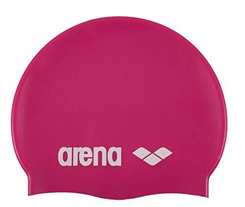 Arena Classic Gorro de Natación, Unisex Adulto, Rosa (Fuchsia/White), Talla Única