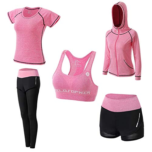 JULY'S SONG Conjunto Deportivo Mujer Conjunto Yoga 5 Piezas Conjuntos Deportivos para Mujer Yoga...*
