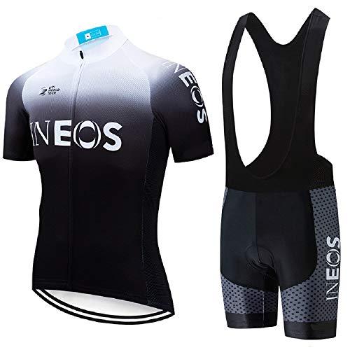 ADKE Hombre Camisetas de Ciclismo para Verano, Maillot Manga Corta de Bicicleta, y Culotte Ciclismo...*