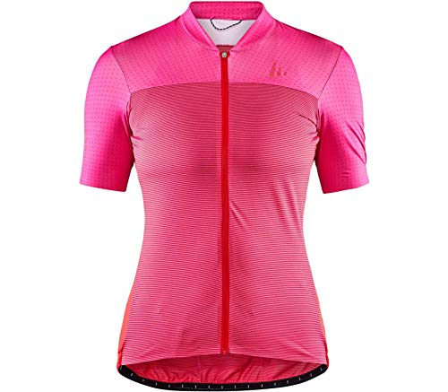 Craft Maillot de Ciclismo para Mujer Hale Glow, Mujer, 1907125-738430-7, Rojo, Extra-Large