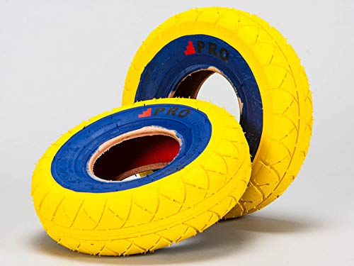 Rocker BMX Street Pro Neumáticos - Amarillo/Azul con tubos libres