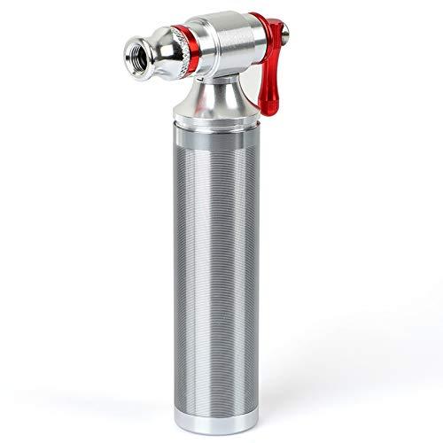 CO2 Bicicleta,Bombona CO2 Bicicleta Inflador CO2 para MTB Schrader y Presta,Bomba de Aire Inflable de CO2 para Bicicleta,Adecuada para Cilindros de CO2 12g 16g 20g 25g - No Incluye Cartucho