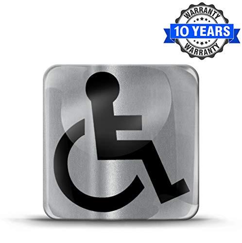 Biomar Labs® 1 x 3D Gel Pegatina Silicona Algún Defecto Genético Silla de Ruedas Discapacitado...*