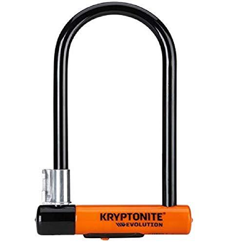 Kryptonite New-U - Evolution Antirobbo para Bicicleta, Motocicleta, Naranja, 10 x 22,9 cm*