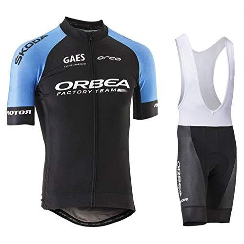 Traje de Ciclismo Hombre de Equipos Profesionales. Culotte y Maillot. Ropa Ciclismo con Badana 12D Gel Pad para MTB Spinning, Equipacion Ciclismo Bicicleta de Carretera