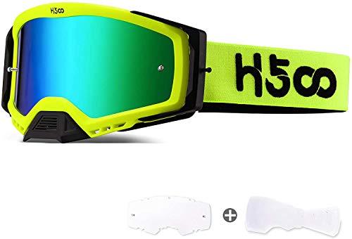 SGTTX Gafas de motocross Antivaho Antipolvo Gafas transparentes para motocicleta MTB Sendero de...*