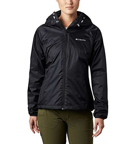 Columbia Ulica, Chaqueta Impermeable, Mujer, Negro (Black Sheen), M