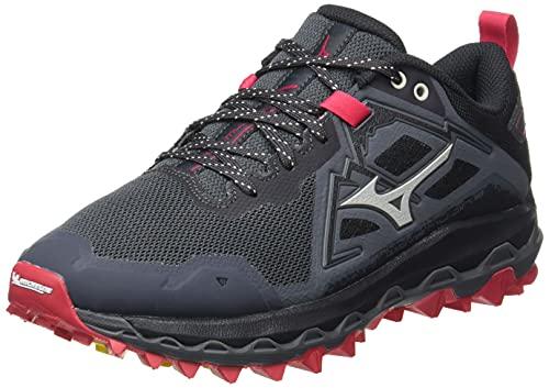 Mizuno Wave Mujin 8, Zapatillas para Carreras de montaa Mujer, Turbulence Obsidian Rred, 40.5 EU*