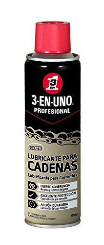 3 EN UNO Profesional - Lubricante de cadenas con PTFE en Spray-250 ml, Incoloro (34470)