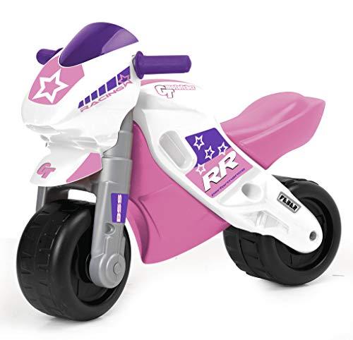 FEBER - Motofeber 2 Racing Pink, correpasillo de color rosa con casco y ruedas anchas para...*