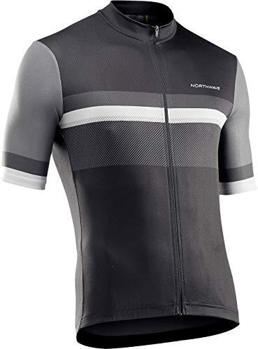 Northwave Origin 2021 - Maillot de ciclismo corto (talla 3XL), color negro y gris