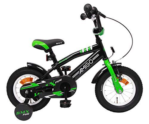 Amigo BMX Fun - Bicicleta Infantil de 12 Pulgadas - para niños de 3 a 4 años - con V-Brake, Freno...*