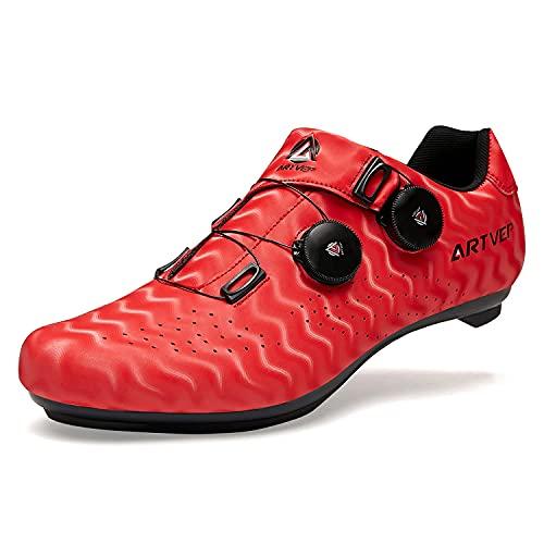 Zapatillas de Ciclismo para Hombre Zapatillas de Bicicleta de Carretera para Mujer compatibles con...*