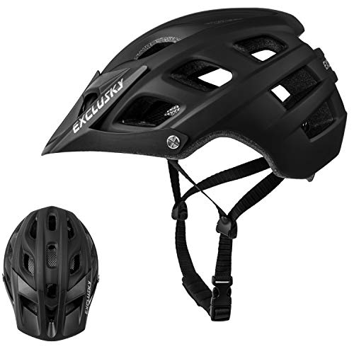 Exclusky Adultos Casco de Bicicleta para Deportes de Ciclismo,56-61cm (Negro)*
