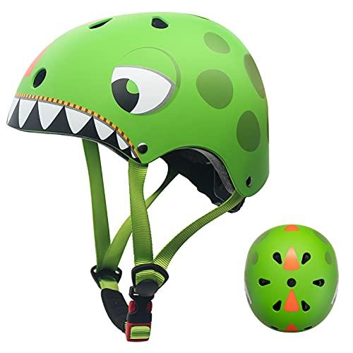 Casco Bicicleta Niños Protección de Cabeza de Seguridad de Dibujos Animados para Niños de 2-5...*