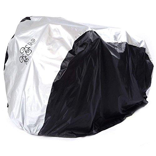 ANFTOP Funda para Bicicleta Funda Protector de Bici Polyester Cubierta Impermeable de Bicicleta para Dos Bicicletas de 200 x 75 x 110 cm
