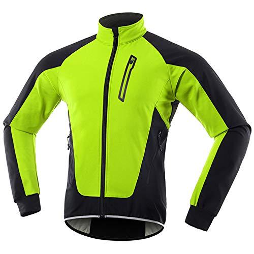 Chaqueta Ciclismo Hombre Invierno Polar Térmico, Impermeable Prueba de Viento Bicicleta Jackets...*