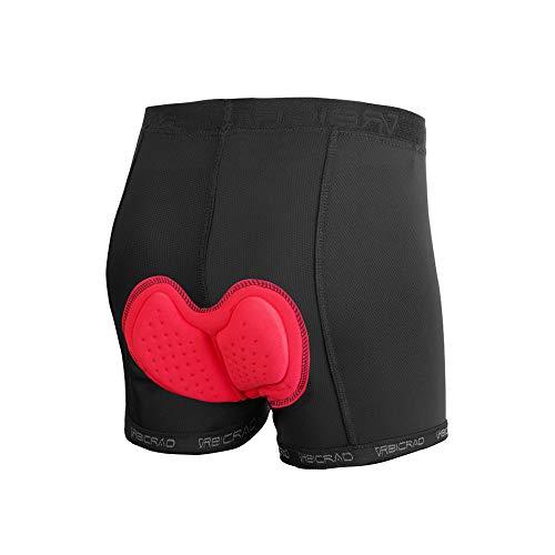 d.Stil Pantalones cortos de ciclismo para hombre, acolchados, 3D, transpirables, para ciclismo de montaña, de secado rápido, Hombre, Negro , large