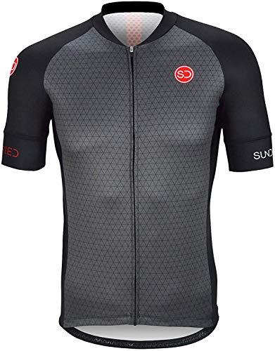 Sundried Jersey de Ciclo para Hombre Manga Corta Profesional de Bicicletas de montaña y Carretera...*