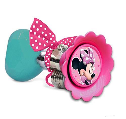 Disney - Claxon de bicicleta para niña, diseño de Minnie Mouse, multicolor, circunferencia 6,5 cm,...*