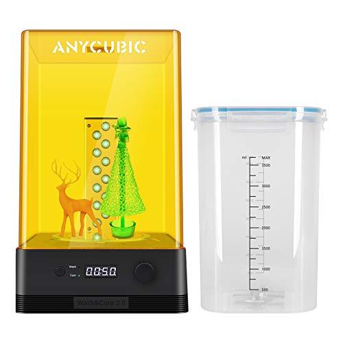 ANYCUBIC Wash and Cure 2.0 Máquina, cubo de lavado 2 en 1 y caja de curado UV para Photon S Mono LCD DLP SLA Modelo impreso en 3D