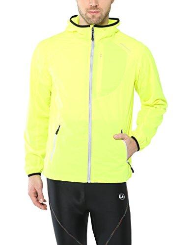 Ultrasport Chaqueta multifuncional de hombre Endy con Ultraflow 3.000, ligera y transpirable; por este motivo, ideal como chaqueta de correr, de entrenamiento o de ciclismo, impermeable y resistente al viento, Amarillo, M