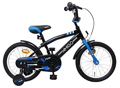 Amigo BMX Fun - Bicicleta Infantil de 16 Pulgadas - para niños de 4 a 6 años - con V-Brake, Freno...*